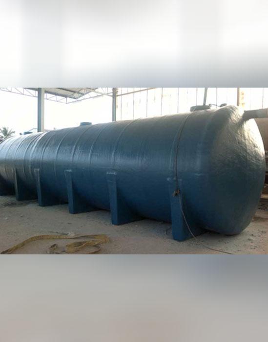 รับผลิตถังบำบัดน้ำเสียทรงแคปซูลขนาดใหญ่