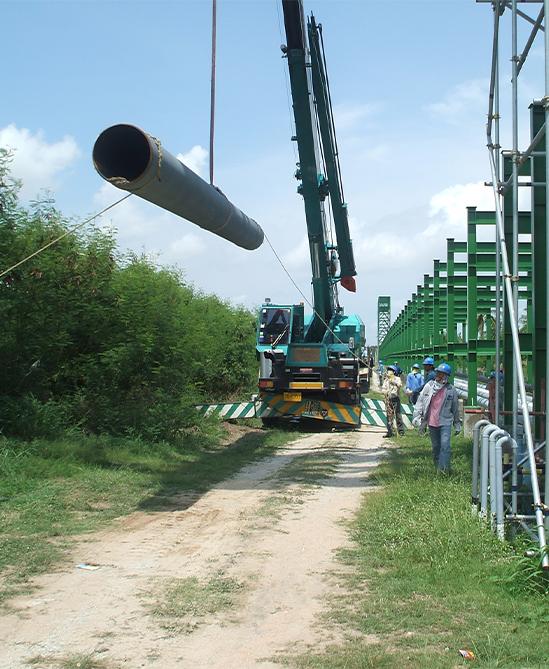 งานติดตั้งท่อ Steam Pipeline 24 inch