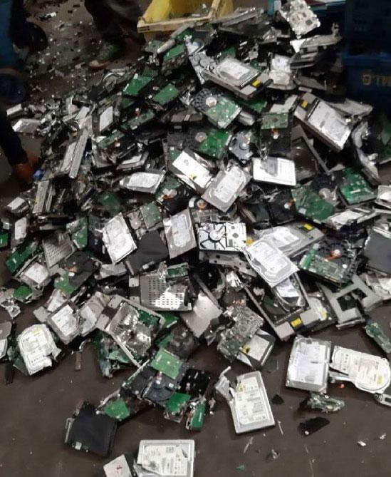 บริการทำลายอุปกรณ์เก็บข้อมูล Hard disk บริษัท บิซิเนส ออนไลน์ จำกัด